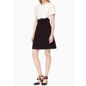 kate spade Dresses - Kate Spade Black & White Bow Dress Size 10